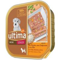 Alimento pollo-verdura perro mini senior ULTIMA, tarrina 150 g