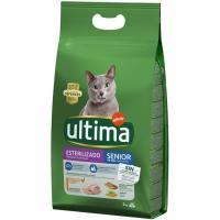 Alimento gato senior esterilizado +10 años ULTIMA, saco 3 kg