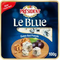 Queso azul D'auvergne Valmont PRESIDENT, tarrina 100 g