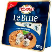 Cuña de queso azul le blue PRESIDENT, tarrina 100 g
