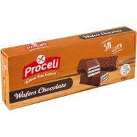 Waffers de chocolate sin gluten PROCELI, caja 130 g