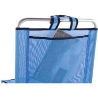 Silla baja de aluminio-textilene c/ asas 50x63x54 cm 450 g, 1 ud