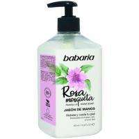 Jabón de manos rosa mosqueta BABARIA, dosificador 500 ml
