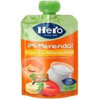 Merienda de yogur-plátano-fresa HERO, doypack 100 g