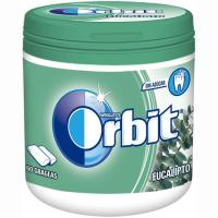 Chicle de eucalipto en gragea ORBIT, bote 84 g
