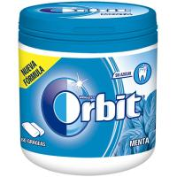 Chicle de menta en gragea ORBIT, bote 84 g