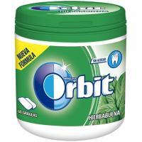 Chicle de hierbabuena en gragea ORBIT, bote 84 g