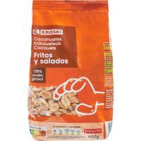 Cacahuetes repelados fritos EROSKI, bolsa 400 g