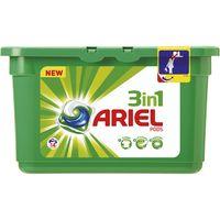 Detergente en cápsulas 3n1 ARIEL, caja 14 dosis