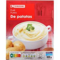Puré de patatas EROSKI, pack 4x125 g