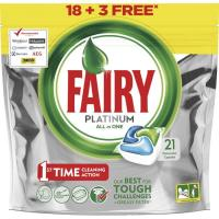 Lavavajillas máquina FAIRY Platinum, bolsa 18+3 dosis