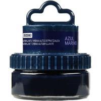 Crema azul para calzado EROSKI, tarro aplicador 1 ud.
