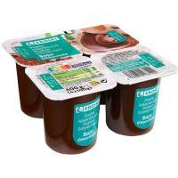 Postre de soja-chocolate EROSKI, pack 4x100 g