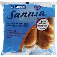 Pan de leche EROSKI Sannia, 6 unid., paquete 240 g