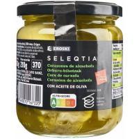 Alcachofa en aceite de oliva Eroski SELEQTIA, frasco 330 g