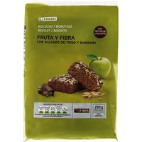 Bizcocho de fruta-fibra EROSKI, paquete 280 g