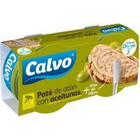 Paté de atún-aceituna CALVO, pack 2x75 g