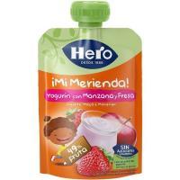 Bolsita de merienda de fresa y manzana HERO, doypack 100 g