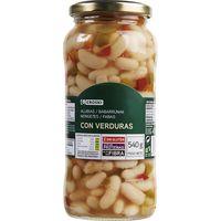 Alubias cocidas con verduras
