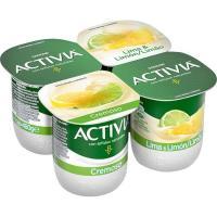 Activia cremoso sabor lima-limón DANONE, pack 4x120 g