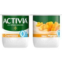 Activia 0% cremoso sabor mango DANONE, pack 4x120 g