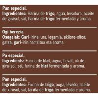 Pan de molde s/ corteza s/ conservantes EROSKI, paquete 450 g
