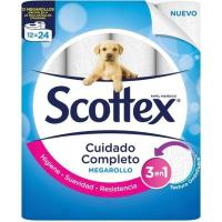Papel higiénico Megarollo SCOTTEX, paquete 12 rollos