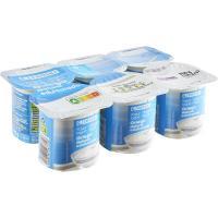 Yogur griego desnatado natural edulcorado EROSKI, pack 6x125 g