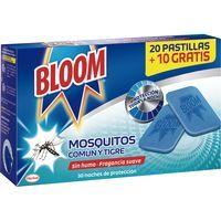 Antimosquitos eléctrico en pastilla BLOOM, recambio 30 uds.