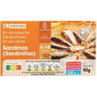 Sardinilla en escabeche EROSKI, lata 90 g