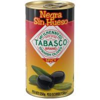 Aceitunas negras con tabasco sin hueso SERPIS, lata 150 g