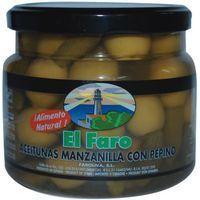 Aceitunas sabor manzanilla-pepinillo FARO, frasco 260 g