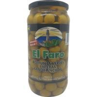 Aceitunas sabor manzanilla-anchoa FARO, frasco 550 g