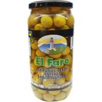 Aceitunas sabor manzanilla natural FARO, frasco 550 g
