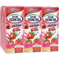 Batido de fresa DON SIMON, pack 6x200 ml