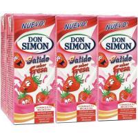 Batido de fresa DON SIMON, pack 6x200 ml