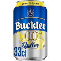 Cerveza 0,0% BUCKLER Radler, lata 33 cl