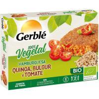 Hamburguesa con quinoa-bulgur-tomate GERBLÉ BIO, caja 200 g