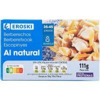 Berberechos al natural 35-45 EROSKI, lata 58 g