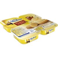 Natillas sabor galleta LA LECHERA, pack 4x115 g