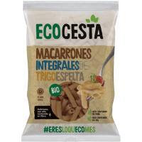 Macarrones de espelta integral bio ECOCESTA, bolsa 500 g