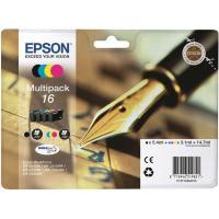 Pack de cartuchos de tinta original, 4 colores T1626 EPSON, 1 ud