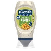 Salsa de patatas deluxe HELLMANN'S, bocabajo 250 g