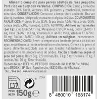 Paté de buey para perros de razas pequeñas EROSKI, lata 150 g