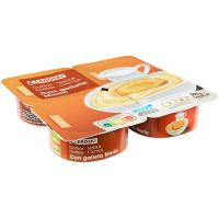 Natillas con galleta EROSKI, pack 4X125 g