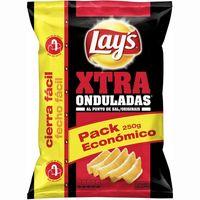 Patatas fritas onduladas al punto de sal LAY`S Xtra, bolsa 250 g