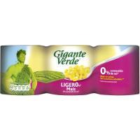 Maiz ligero 0% GIGANTE VERDE, pack 3x140 g