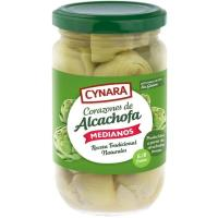 Corazones de alcachofa natural 6/8 frutos CYNARA, frasco 175 g