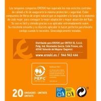 Tampón super+ plus con aplicador compacto EROSKI, caja 20 uds.