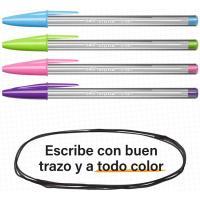 Bolígrafo punta ancha 1,6mm, colores surtidos, 6+2 Cristal Fun BIC, Pack 8 uds